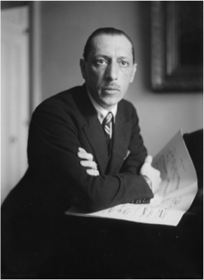 Portrait of Igor Stravinsky. George Grantham Bain Collection, Library of Congress.