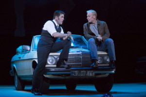 """Escamillo (Michael Mayes) and Don Jose (Roger Honeywell) compare notes on their rival love for Carmen in Boston Lyric Opera's production of Georges Bizet's """"Carmen"""" directed by Calixto Bieito. """"Carmen"""" opens BLO's 40th Season, at the Boston Opera House through October 2. Photo: T. Charles Erickson"""