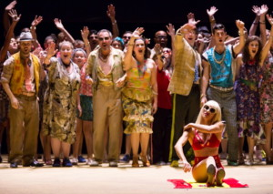 "As he prepares to fight a bull in the center of town tonight, Escamillo (Michael Mayes) searches for Carmen in her gypsy camp and charms the assembled group in Boston Lyric Opera's production of Georges Bizet's ""Carmen"" directed by Calixto Bieito. ""Carmen"" opens BLO's 40th Season, at the Boston Opera House through October 2. Photo: T. Charles Erickson"