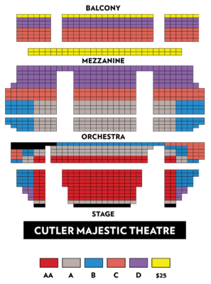 Emerson Cutler Majestic Theatre - BLO | TOSCA seating chart