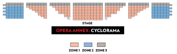 The Cyclorama at the Boston Center for the Arts, BLO | THE NEFARIOUS, IMMORAL BUT HIGHLY PROFITABLE ENTERPRISE OF MR. BURKE & MR. HARE - seating chart