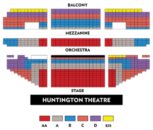 Huntington Avenue Theatre, BLO | THE THREEPENNY OPERA - seating chart