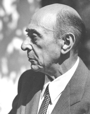 Arnold Schoenberg, Los Angeles, circa 1948. From the Schoenberg Archives at USC.