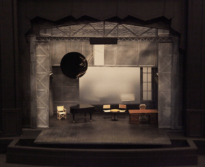 Set design rendering for the World Premiere production, by designer Simon Higlett. Boston Lyric Opera, 2018, Schoenberg in Hollywood