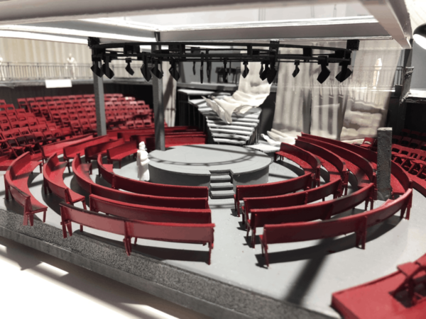 Set design model for THE RAPE OF LUCRETIA, Boston Lyric Opera, March 11-17, 2019