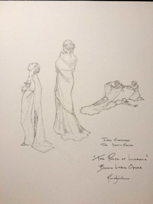 costume design sketches for Boston Lyric Opera's production of THE RAPE OF LUCRETIA, March 11-17, 2019