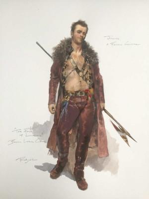 costume design sketch for Junius in Boston Lyric Opera's production of THE RAPE OF LUCRETIA, March 11-17, 2019