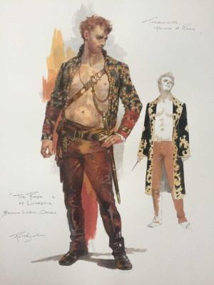costume design sketch for Tarquinius in Boston Lyric Opera's production of THE RAPE OF LUCRETIA, March 11-17, 2019