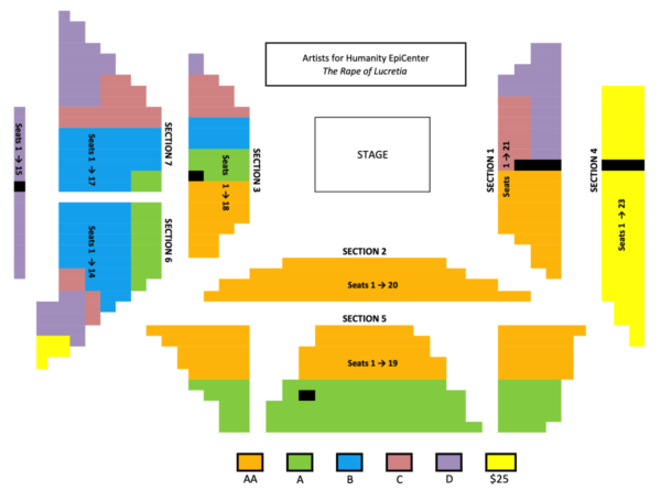 Sudays seating chart for THE RAPE OF LUCRETIA, Boston Lyric Opera, MAR 11-17, 2019