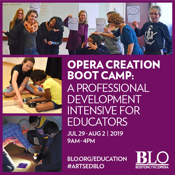 Opera Creation Boot Camp: A professional development intensive for educators | July 29 - Aug 2, 2009 | 9am-4pm